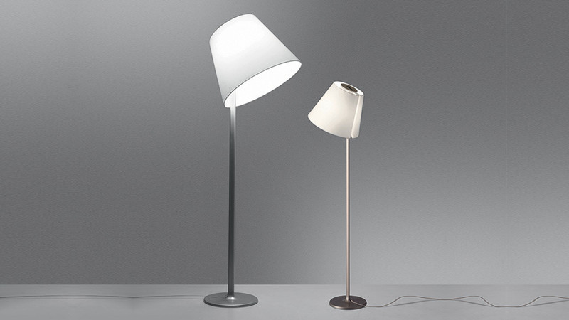lampadaire melampo gris artemide luminaires pierrel. Black Bedroom Furniture Sets. Home Design Ideas