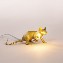 La lampe The Mouse couchée or, Seletti