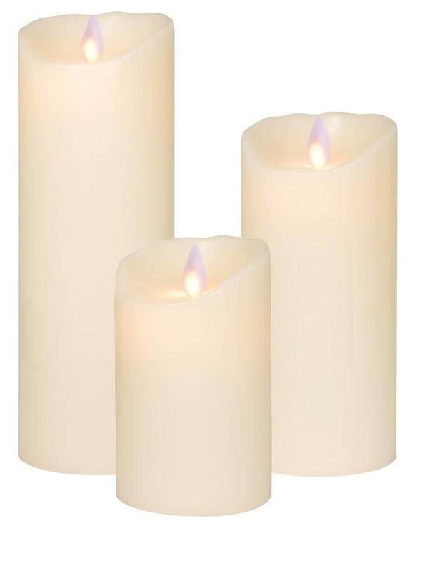 bougie led ivoire hauteur 12 5 cm luminaires pierrel. Black Bedroom Furniture Sets. Home Design Ideas