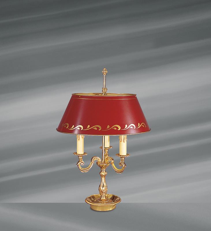 lampe bouillotte 15223 bx bronze abat jour m tal bordeaux lucien gau luminaires pierrel. Black Bedroom Furniture Sets. Home Design Ideas