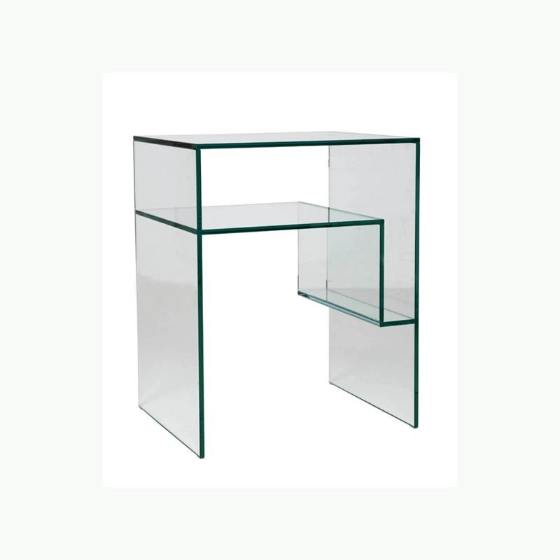 Table chevet crchevet marais international luminaires - Table de chevet verre ...